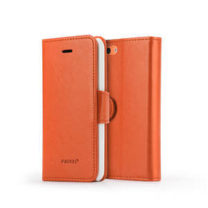 One-piece card case for iphone5c (orange)